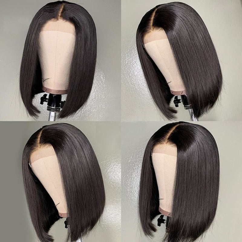 Yvonne Short Bob Wig 4X4 Lace Closure Human Hair Wigs