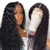 Zoey Pre-Made Fake Scalp Curly Wave Human Hair 360 Lace Front Wig