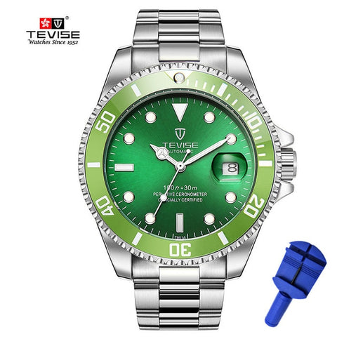 Tevise Brand Men's Mechanical Stainless Steel Watch