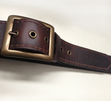 Primary Buckle Up Brown Leather Belt