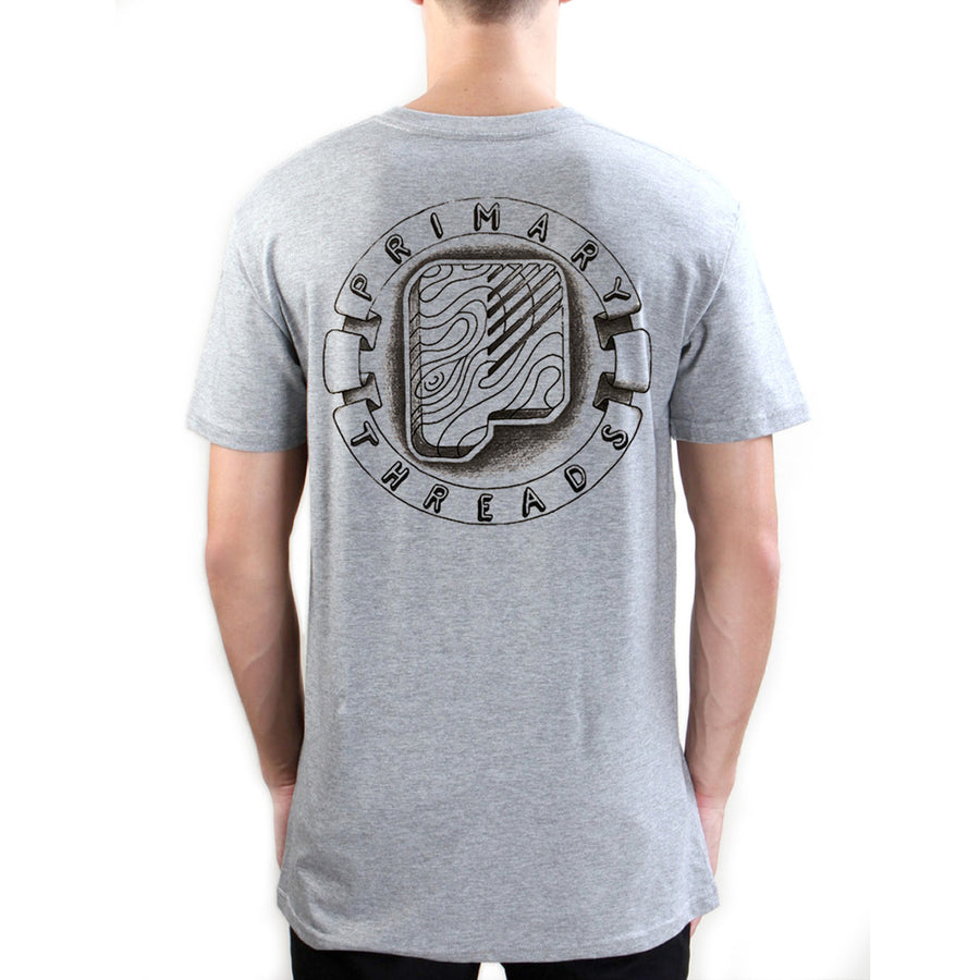Primary Got Wood Tee - Black on Grey