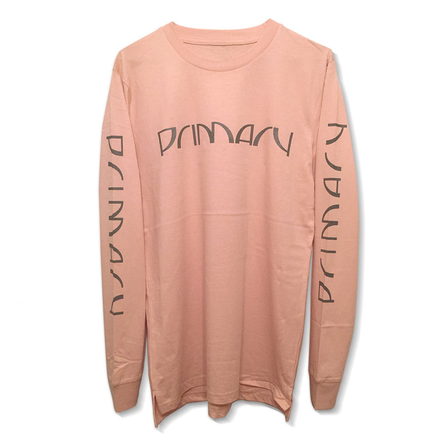 Primary Halfcut Pink Long Sleeve