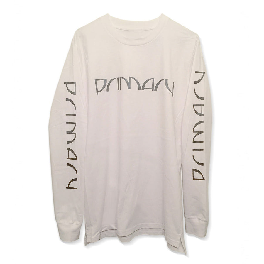 Primary Halfcut White Long Sleeve