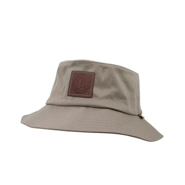 Leather Patch Bucket Hat Khaki