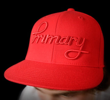 Cursive Red Flexfit Cap