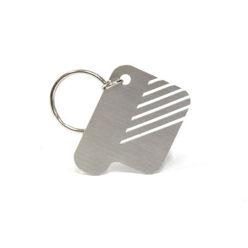 Sterling P Key Ring