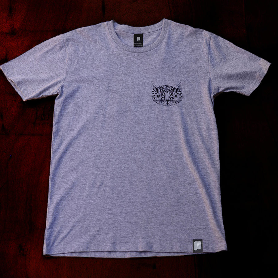 Primary Kitty Tee Grey Marle (SS)