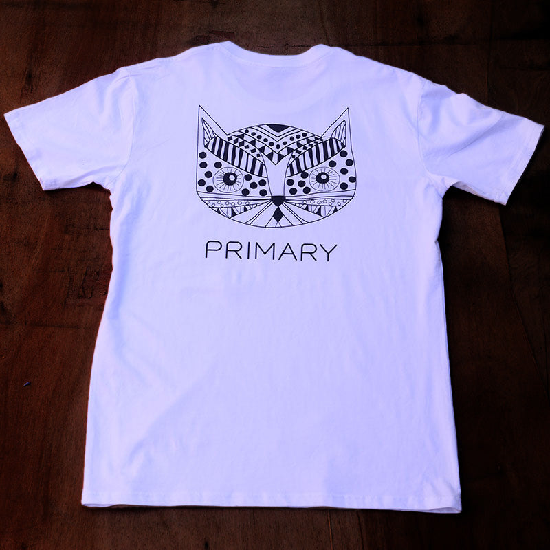 Primary Kitty Tee White (SS)