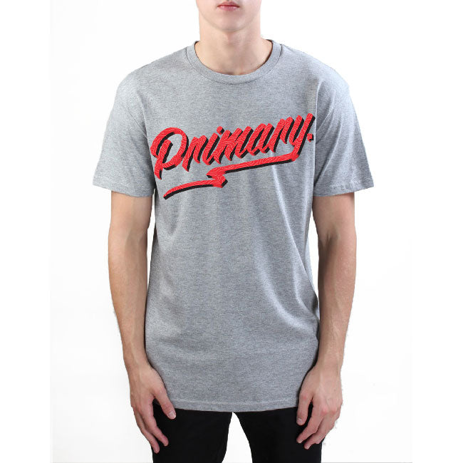 Primary Get Rad Tee - Red on Grey