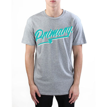 Primary Get Rad Tee - Teal on Grey