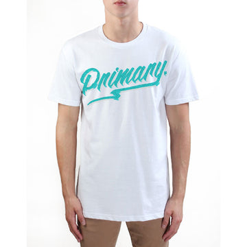 Primary Get Rad Tee - Teal on White