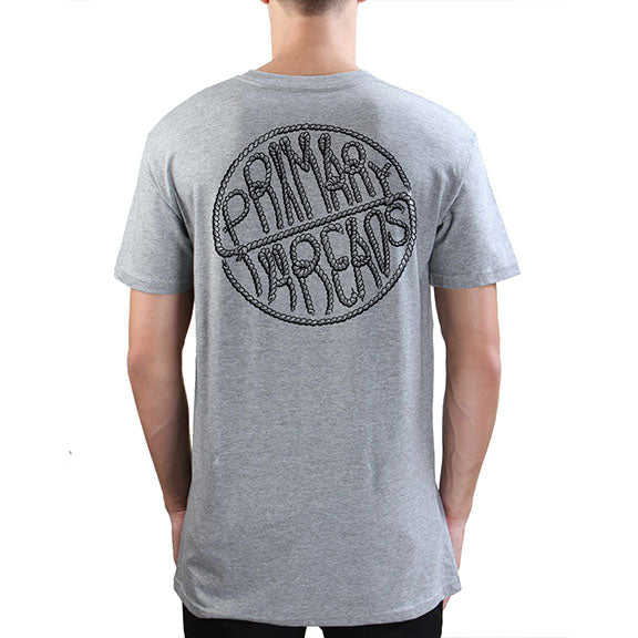 Primary Tied Tee Grey Marle