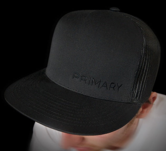 Primary Rig Black Trucker Cap