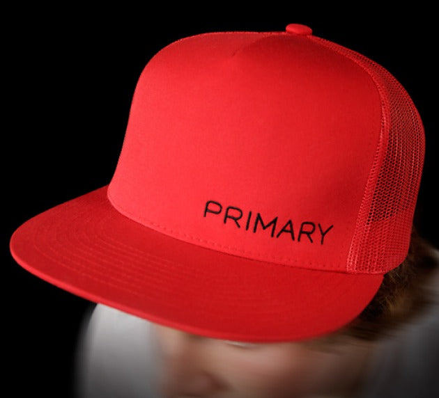 Primary Rig Red Trucker Cap