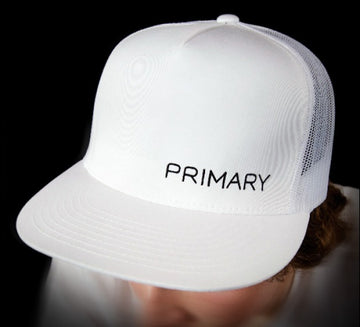 Primary Rig White Trucker Cap