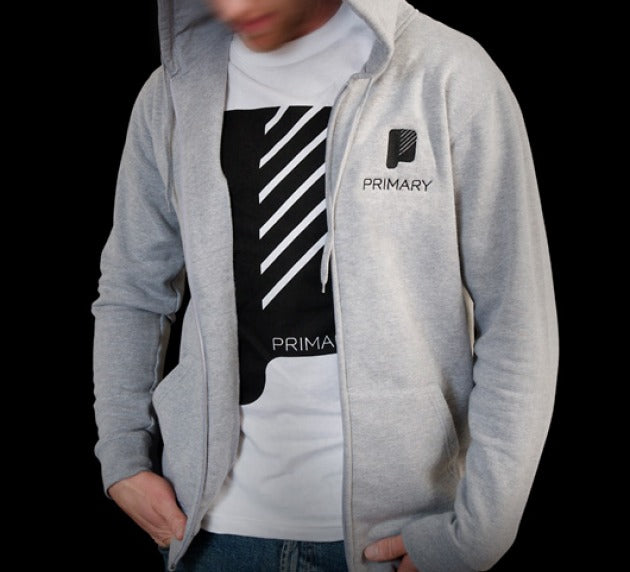 Primary Logo Athletic Grey Zip Hood