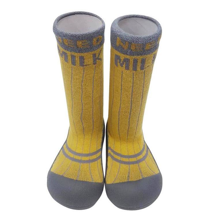 Attipas Long Socks - Need Milk/Yellow Grey