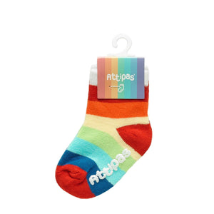 Non Slip Baby Socks - Rainbow White