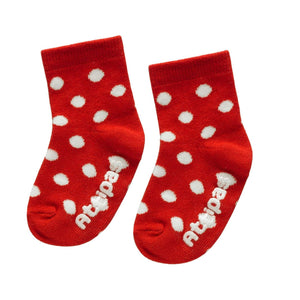 Non Slip Baby Socks - Polka Red