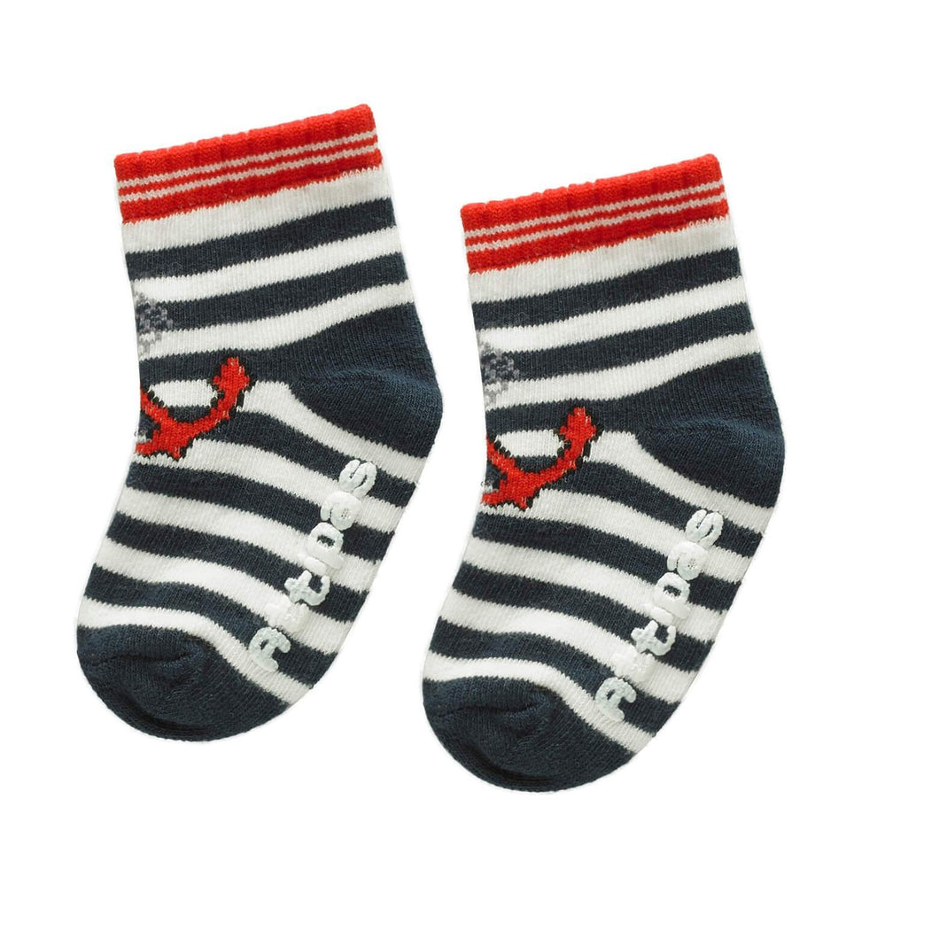 Non Slip Baby Socks - Marine Red