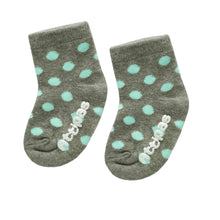Load image into Gallery viewer, Non Slip Baby Socks - Polka Gray