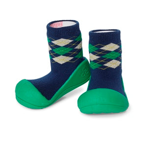 Attipas Argyle - Green - First Walker Baby Shoes