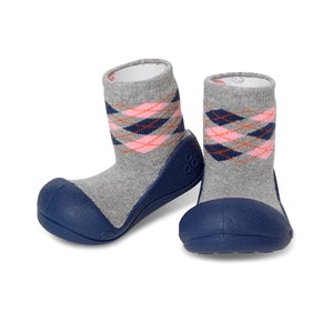 Attipas Argyle - Navy - First Walker Baby Shoes
