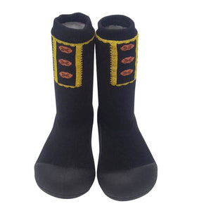 Attipas Long Socks - Button/Black