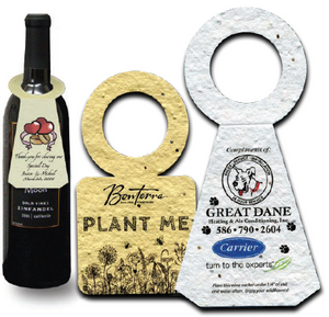 Seed Paper Wine Bottle Necker