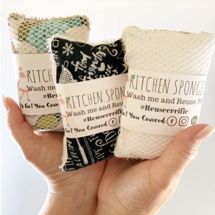 Reusable Kitchen Sponges - Machine Wash Friendly!