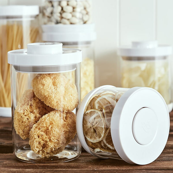 Formula Food Glass Storage Container Pop Sealed