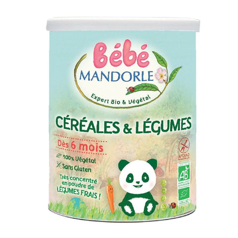 Bébé Mandorle Organic Cereal, Vegetables (400g)