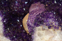 Load image into Gallery viewer, AMETHYST GIANT OVAL GEODE WITH CALCITE