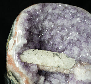 AMETHYST GEODE with CALCITE BAR