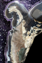 Load image into Gallery viewer, DARK AMETHYST GEODE with AGATE
