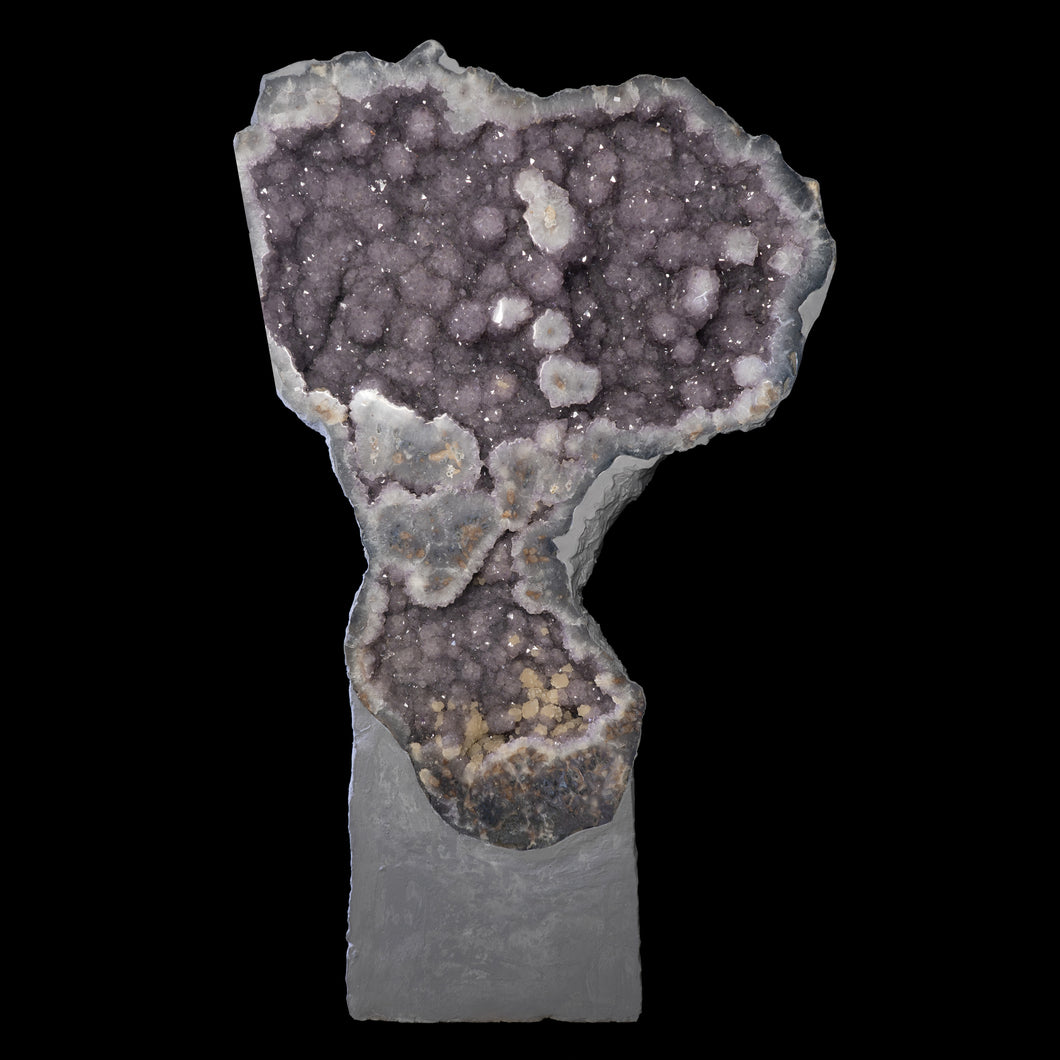 FLOWER AMETHYST GEODE with CALCITE