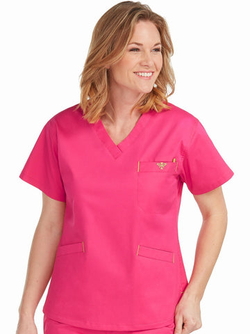 8403 V-NECK SIGNATURE 3 POCKET TOP(SIZE: XXS-XL)