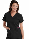 8409 V-NECK MULTI-POCKET TOP