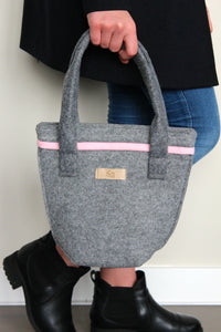 Chloé Mini in Ash Grey with Pink