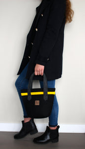 Chloé Mini in Black with Yellow