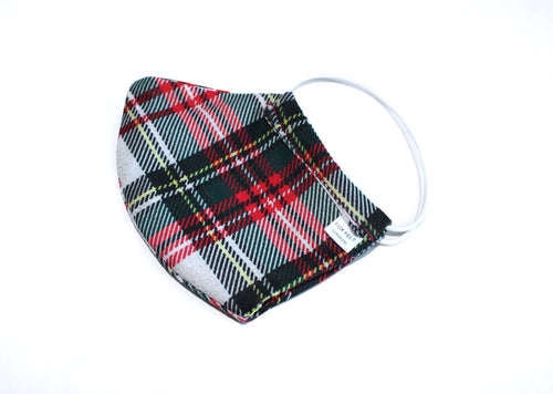 Face Mask in Tartan Pattern - Handmade in London, UK