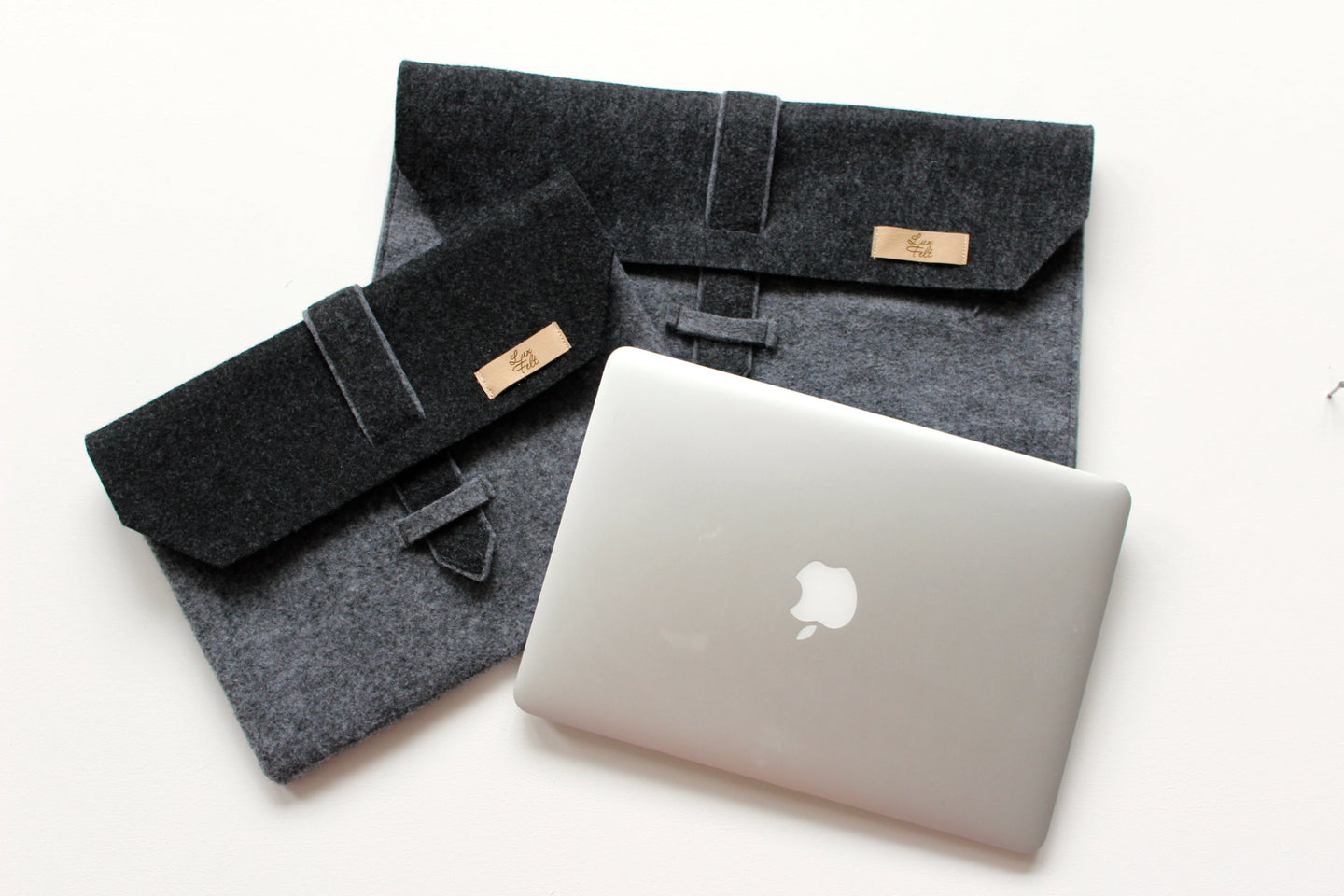 Laptop Case in Ash and Dark Grey