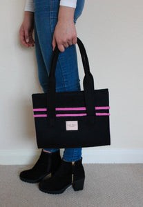 Lucy Mini Extra in Black with Pink