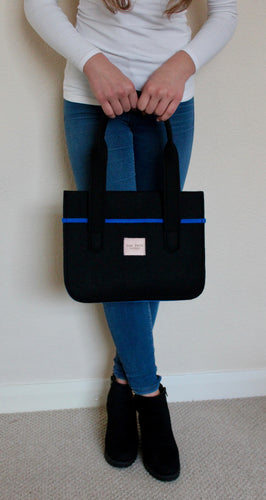 Stella Mini Extra in Black with Sapphire Blue