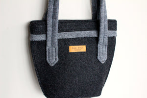 Chloé Mini in Dark Grey with Bright Grey