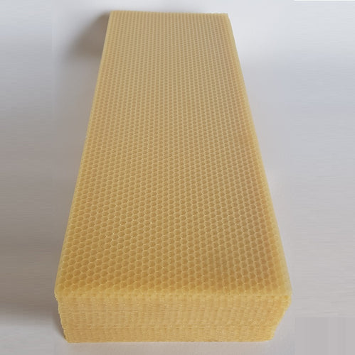 Yellow Full Depth Wax Foundation Comb