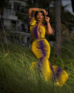 """Jagged Beauty"" Ankara Gown"