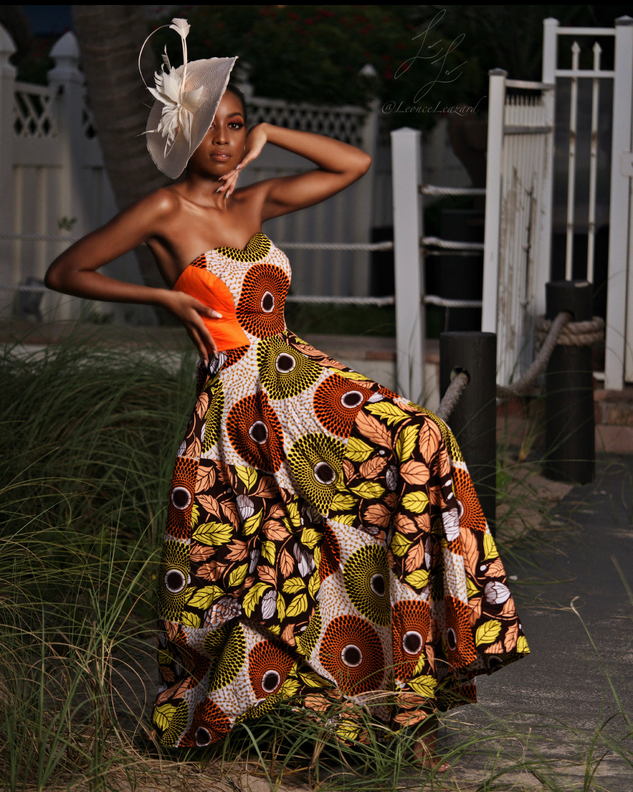 """Summered Path"" Ankara Gown"