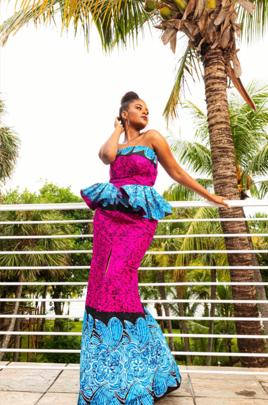 """Head of the Missions"" Women's Ankara Dress"