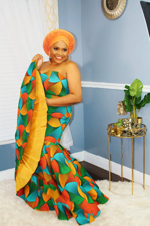 """Colors of the Wind"" Ankara Gown"
